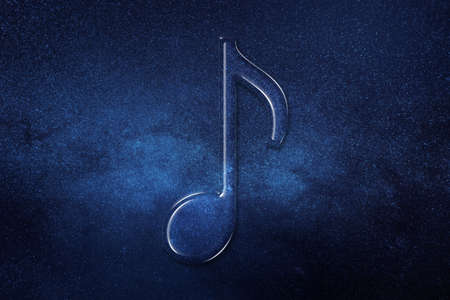 Eighth note symbol, Music Background, space background