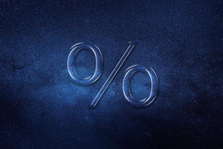 Percentage sign, Percent symbol, % element, space background