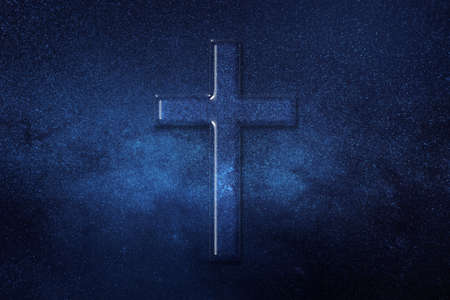 Christian Cross Symbol, Religion cross, space background