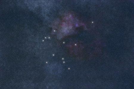 Aquarius star constellation, Water Bearer.