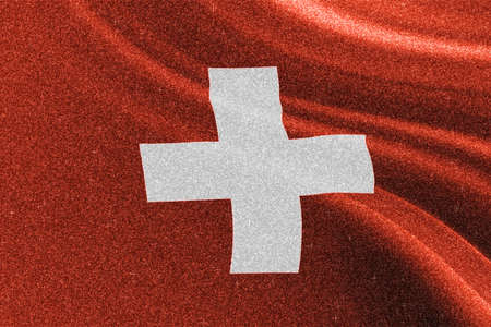 Switzerland glitter texture flag, national flag.