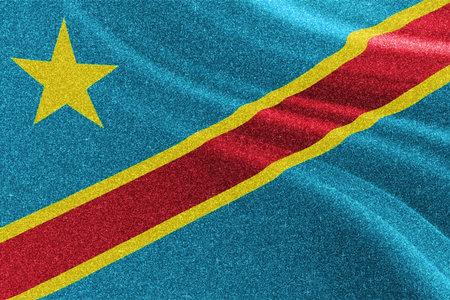 Democratic Republic of Congo glitter texture flag, national flag.