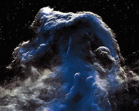 Horsehead Nebula, Supernova Core pulsar neutron star. Archivio Fotografico