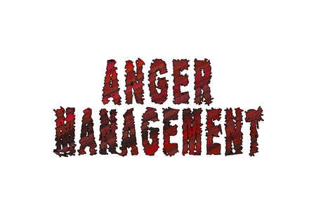 Anger management, Banner, Poster and Sticker, with clipping path 版權商用圖片
