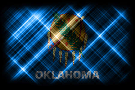 Oklahoma state flag, Oklahoma flag background modern flag Archivio Fotografico