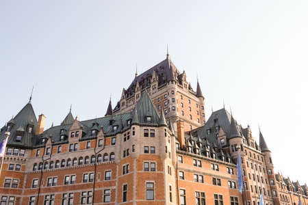 a gothic architecture in Quebec, Canada Stock Photo