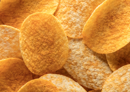 abstract background of potato chips food texture