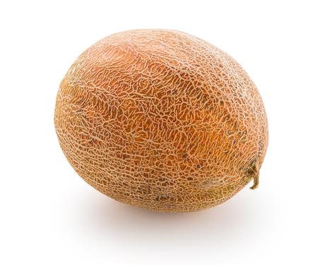natural ripe melon on white isolated background 版權商用圖片