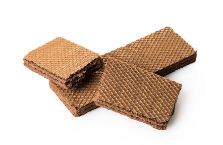 Truffes au chocolat close-up sur fond blanc isolé Banque d'images - 97235922