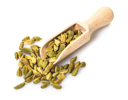 spice dry cardamom on white isolated background 写真素材