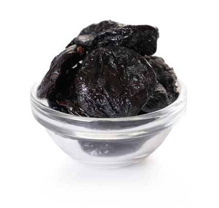 prunes, dried fruits on a white isolated background Stock fotó