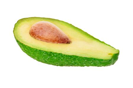 avocado on a white isolated background with clipping path