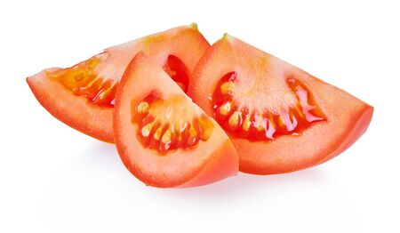 tomatoes on a white isolated background with clipping path                                Stockfoto