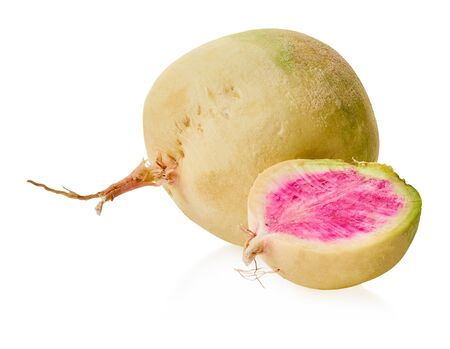 fresh radish vegetable with clipping path on a white isolated background