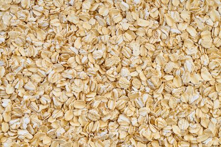 food background made of oatmeal texture closeup