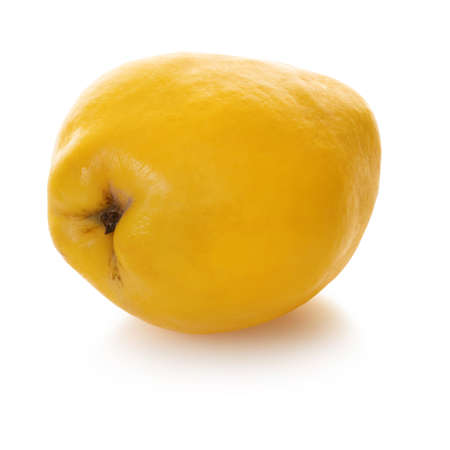 Quince fruit on white isolated Stockfoto