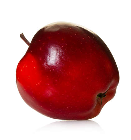 red apple fruit on white isolated background Stockfoto