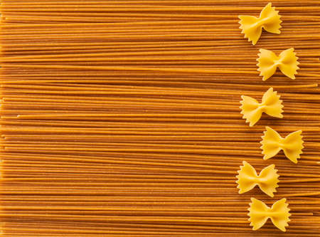 food background from texture of pasta closeup