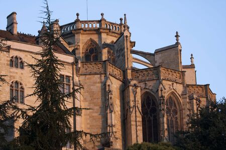 gascony: a wing of the Cathedral of Auch in Gascony
