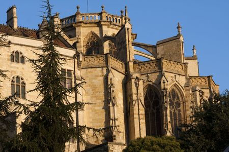 a wing of the Cathedral of Auch in Gascony