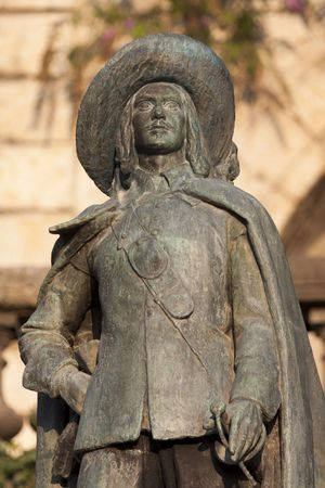 statue of DArtagnan in Auch, in Gascony, American Plan