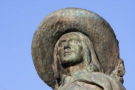 gascony: Portrait of DArtagnan in Auch, in Gascony