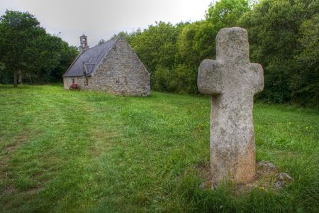 Chapel in the Crozon, Brittany Stock Photo