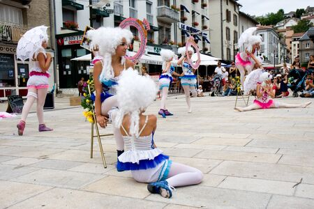 Aurillac International Street Theatre Festival in France, 2010.  500 artistics teams,2569 artists,590 shows.