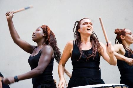 make public: Aurillac International Street Theatre Festival in France, 2010. Show,