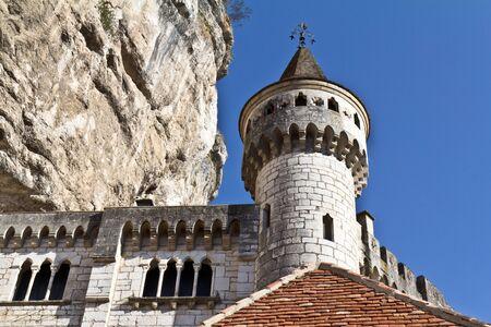 donjon: Donjon of the Ancien Palais Abbatial of Rocamadour in France