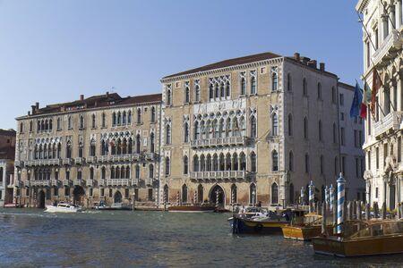 Venice, Italy - November 25, 2011: historic buildings along the Grand Canal. Stock Photo - 11653192