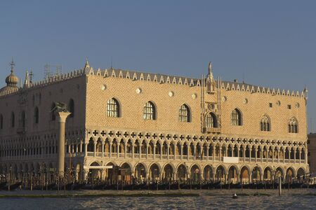Venice, Italy - November 25, 2011: View from the lagoon of the east facade of the Doges palace (Palazzo Ducale). Stock Photo - 11719448