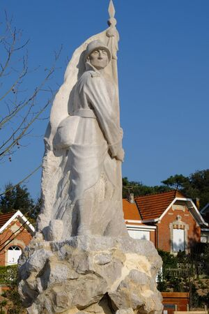 historic world event: French war memorial, Soulac sur mer, Medoc, France