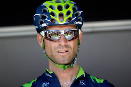 sud: LECTOURE, FRANCE - JUNE 20  Portrait of the cyclist champion Alejandro Valverde at the departure of the first stage of the Route du Sud, on June 20, 2014 in Lectoure, France