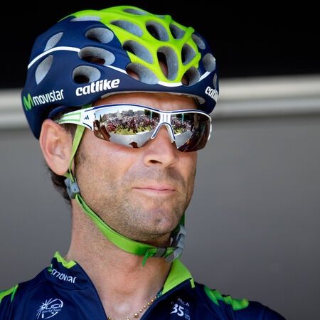 sud: LECTOURE, FRANCE - JUNE 20   The spanish cyclist Alejandro Valverde at the departure of the first stage of the Route du Sud, on June 20, 2014 in Lectoure, France
