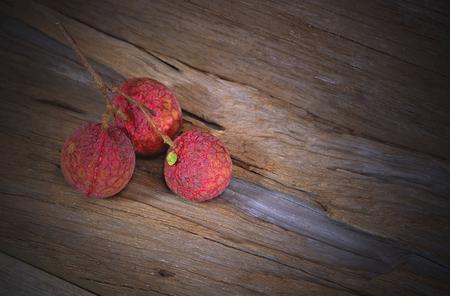lechee: litchi fruit on dark tone background