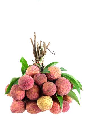 litchee: Fresh lychee Litchi isolated on white background