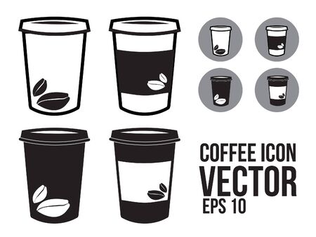 Coffee To go or Takeaway paper coffee cup icon Illustration