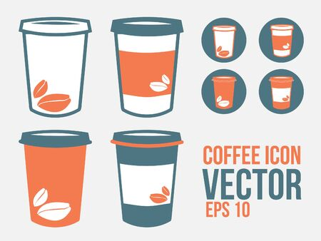coffee to go: Coffee To go or Takeaway paper coffee cup icon Illustration