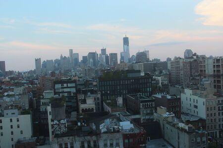 nyc downtown skyline photo