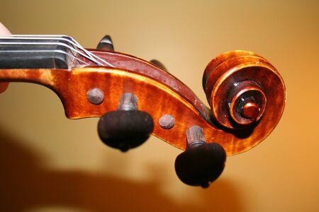 violins: violin scroll