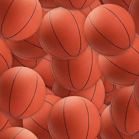 basketballs: Basketballs Seamless Texture Tile