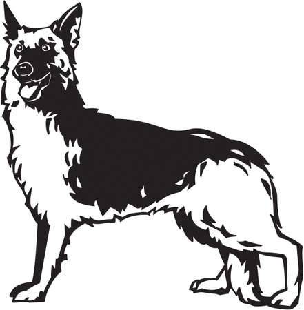 German Shepherd 向量圖像