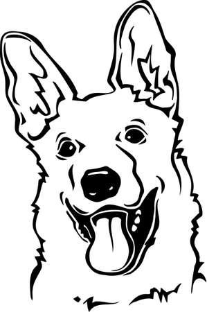 German Shepherd Ilustracja