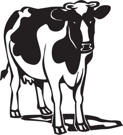 Cow Stock Vector - 13014939