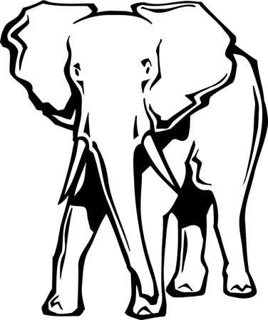 Elephant Ilustrace