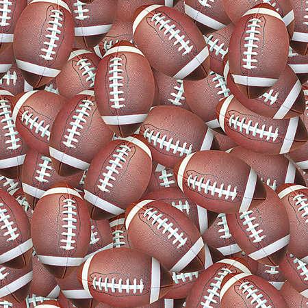 Footballs Seamless Texture Tile Banque d'images