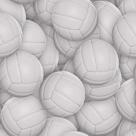 Volleyballs Seamless Texture Tile Stock Photo