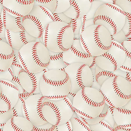 baseball ball: Baseballs Seamless Texture Tile