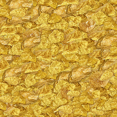 Gold Nuggets Seamless Texture Tile Stock Photo - 13102602